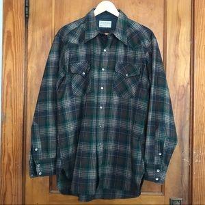 Vintage Pendleton - Men's Large wool plaid shirt